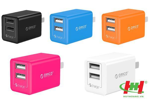 Sạc điện thoại USB 2 cổng 2.4A ORICO WHA-2U-WH