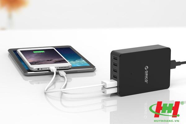 Sạc điện thoại USB 6 cổng 2.4A ORICO CSE-6U-BK