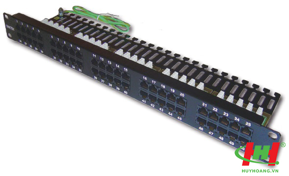 "Patch panel RJ11 for Telephone 50 Port,  19"" rackmount,  cho cáp thọai"
