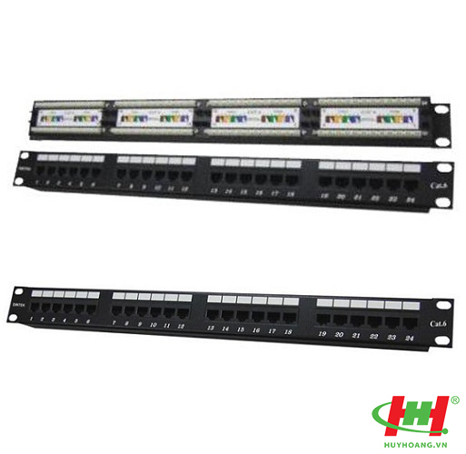 "Patch panel 24 Port,  CAT.6A,  19"" rack mount"