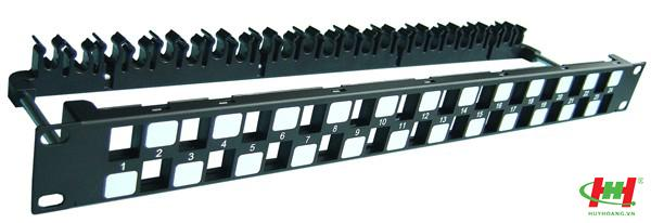 "Patch panel 24 Port rổng,  19"" rack mount"