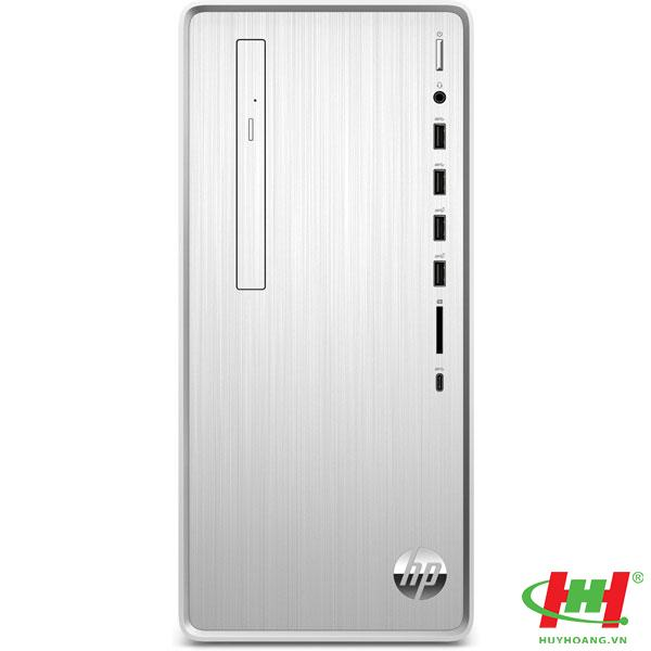 Máy tính để bàn HP Pavilion TP01-1111d, Core i3-10100 (3.60 GHz,6MB),4GB RAM ,256GB SSD, DVDRW, Intel UHD Graphics, Wlan ac+BT, USB Keyboard & Mouse,Win 10 Home 64, Silver, 1Y WTY_180S1AA
