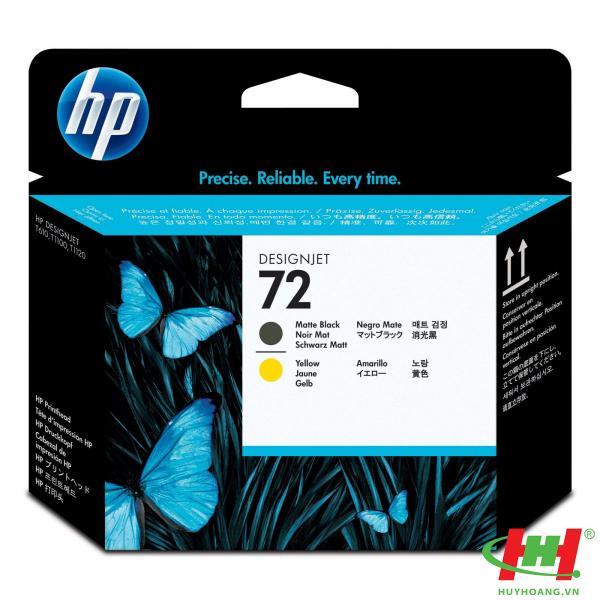 Đầu phun máy in HP PrintHead C9384A (HP 72 MB&Y) Matte Black & Yellow