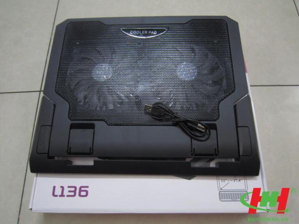 Đế quạt làm mát laptop L136 Cooling Pad