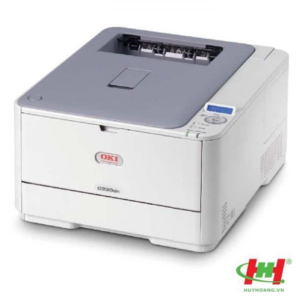 Máy in laser màu OKI C330dn (in 02 mặt,  in qua mạng,  A4)