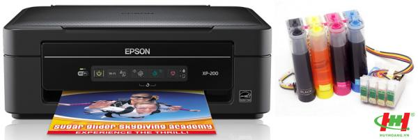 Máy in liên tục Epson Expression Home XP-200 (in,  scan,  copy,  wifi,  Mực dầu)