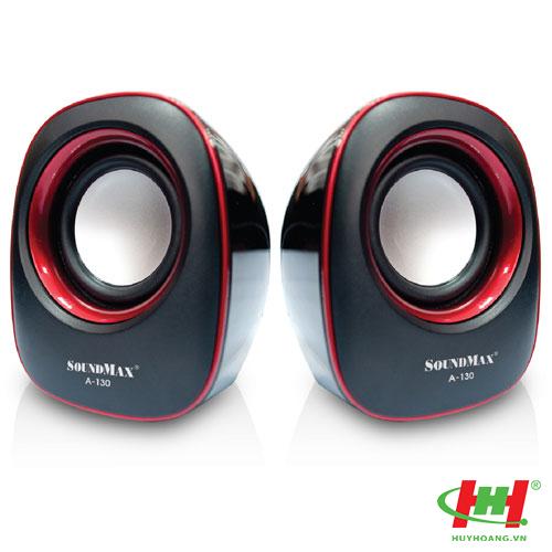 Loa SoundMax A130 2.0 (xanh,  đỏ)