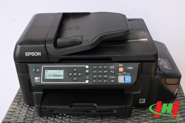 Máy in liên tục Epson L655 (4màu,  in wifi,  scan,  copy,  fax,  2 mặt) (Thay bằng L6190)