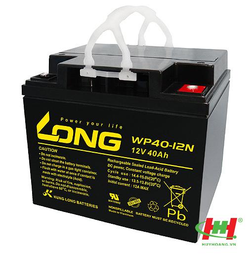 Bình ắc quy Long 12V-40Ah (WPS40-12,  WPS40-12N; WP40-12NE; WP40-12N)