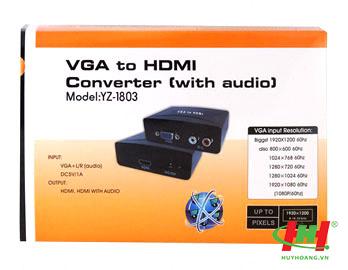 Bộ chuyển VGA to HDMI Converter YZ-1803