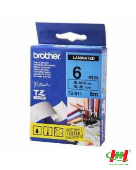 Băng nhãn Brother TZe-511 6mmx8m Chữ đen nền xanh lá