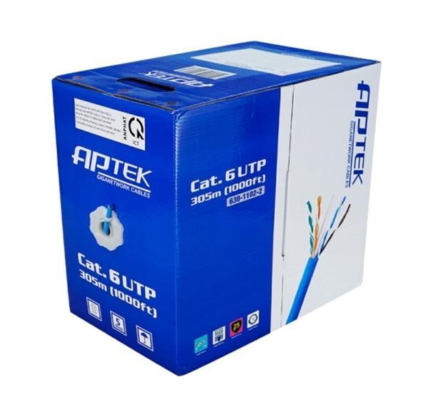 Cáp mạng APTEK CAT.6 U/UTP 23AWG PVC Cable - Copper Cable  305m 630-1102-2
