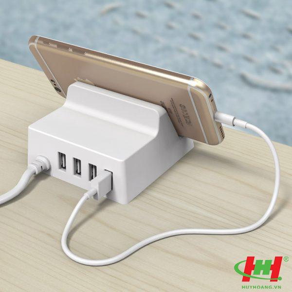 Sạc điện thoại USB 4 cổng 2.4A ORICO CHK-4U-WH