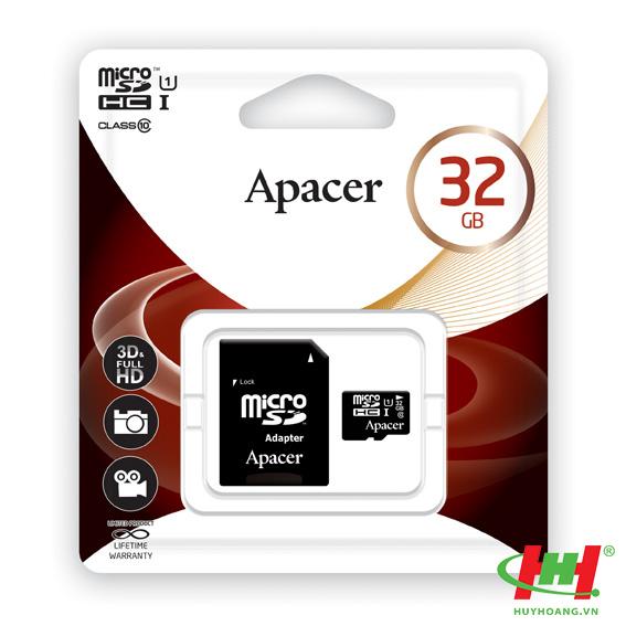 Thẻ nhớ 32GB Micro SD Apacer SDXC/ SDHC UHS-I Class 10