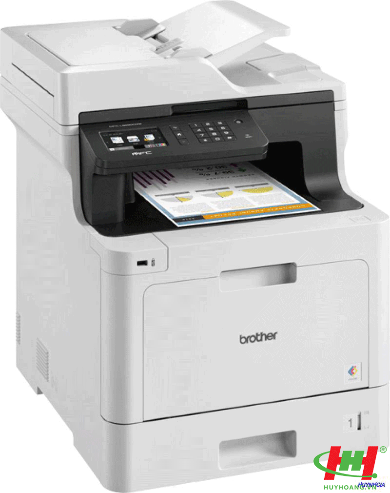 Máy in laser màu Brother MFC-L8690CDW (Print/ Copy/ Scan/ Fax/ Wifi)