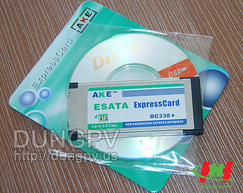 Card PCMCIA Express to Esata AKE 34mm