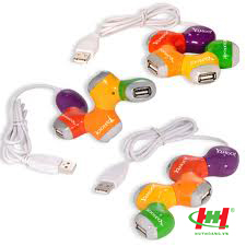 Hub USB 4 Port bông mai