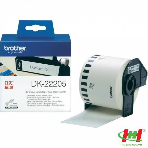 Nhãn giấy DK liên tục DK-22205
