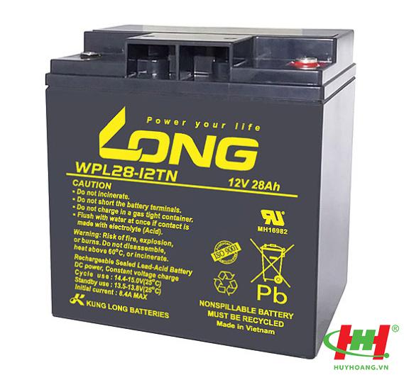 Bình ắc quy Long 12V-28Ah (WPL28-12TN,  WP28-12TN; WPL28-12T,  WP28-12T; WPL28-12TM,  WP28-12TM)