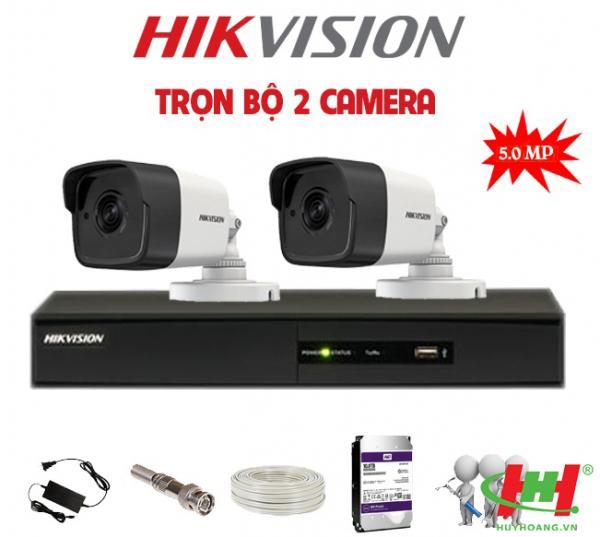 Bộ 2 camera quan sát Hikvision 5.0 Megapixel