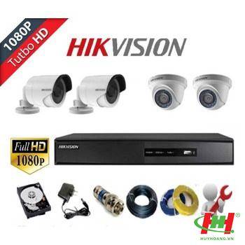 Bộ 4 camera quan sát Hikvision 2.0 Megapixel