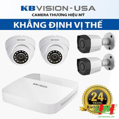 Bộ 6 camera quan sát HDCVI Kbvision 2.0 Megapixel