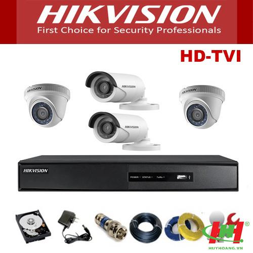 Bộ 6 camera quan sát Hikvision 2.0 Megapixel