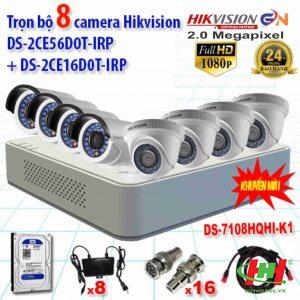Bộ 8 camera quan sát Hikvision 2.0 Megapixel