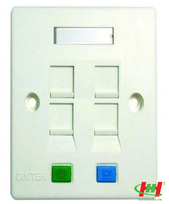 Face plates - Mặt nạ 04 port,  US type,  70 x 114mm - Mặt phẳng