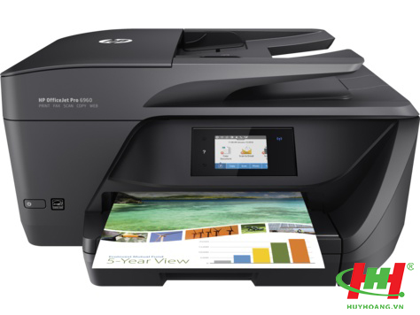 Máy in màu HP OfficeJet Pro 6960 AIO Printer (in 2 mặt,  scan,  copy,  fax,  Wifi)