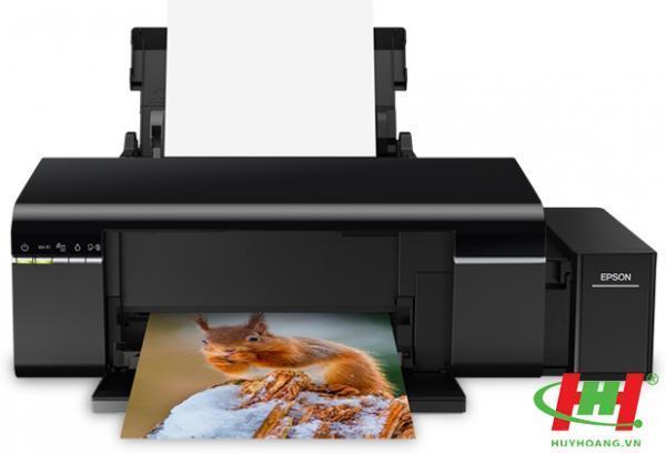 Máy in phun màu Epson L805 (Wifi,  6 Màu,  mực dầu)