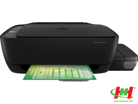 Máy in phun màu liên tục HP Ink Tank 415 All-in-One (Z4B53A) in wifi,  scan,  copy