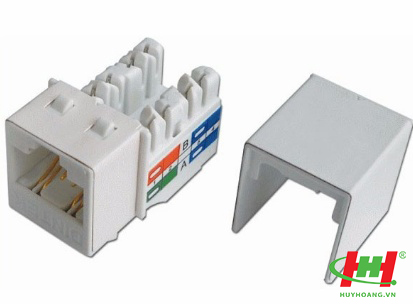 Modular Jack - ổ cắm CAT.6A for 10Gb application,  keystone jack,  T568A/ B