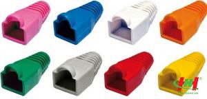 Modular boot – Bọc cao su cho RJ45,  DINTEK,  100pcs/ bag,  color:  Red,  Orange,  Yellow,  Green,  Blue,  Gray,  Black,  White