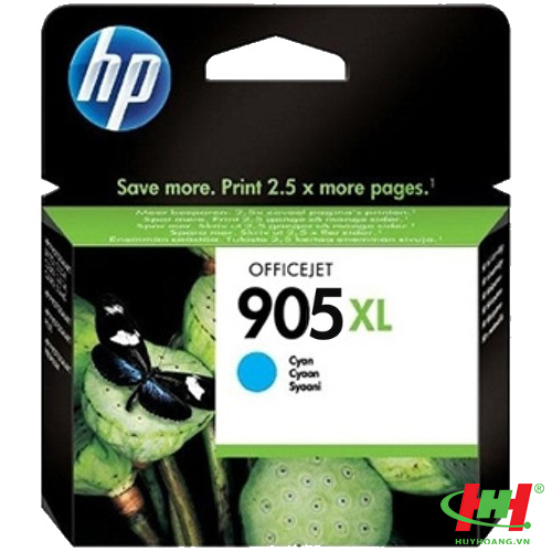 Mực in HP 905XL High Yield Cyan Original Ink Cartridge (T6M05AA)