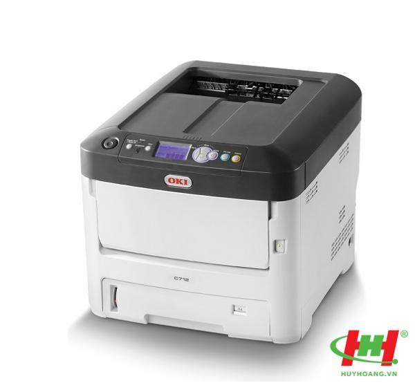 Máy in laser màu A4 OKI C712n (In màu,  in qua mạng,  in giấy dày 64 - 250 gsm)
