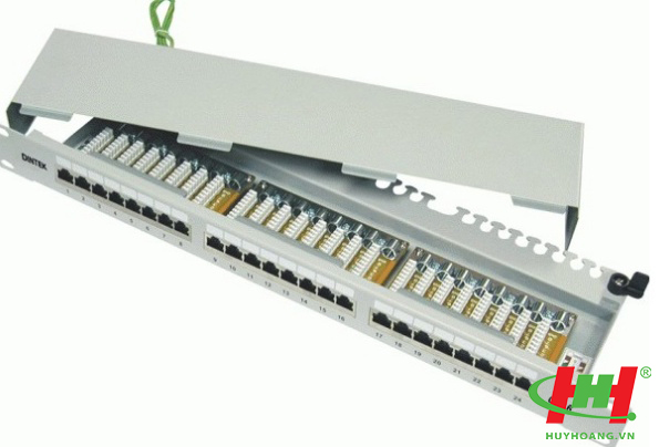 "Patch panel 24 Port,  CAT.6,  Fully Shielded 19"" rackmount,  Krone type"