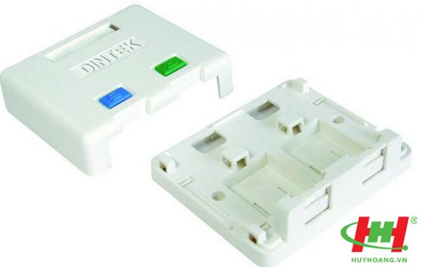 Surface Mount box - ổ mạng nổi 2 port - 76 x 65 x 27mm
