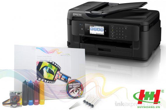 Máy in màu đa năng Epson Workforce 7710 A3 In 2 mặt, ,  Scan,  Copy,  Fax (Hệ thống mực dầu Pigment UV)