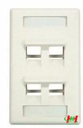 Wall Box - Hộp âm DinTek cho mặt nạ 4 port,  U.S type,  114 x 69.8 x 36.8mm (sử dụng chung mặt 4 port phẳng và mặt 45 độ).
