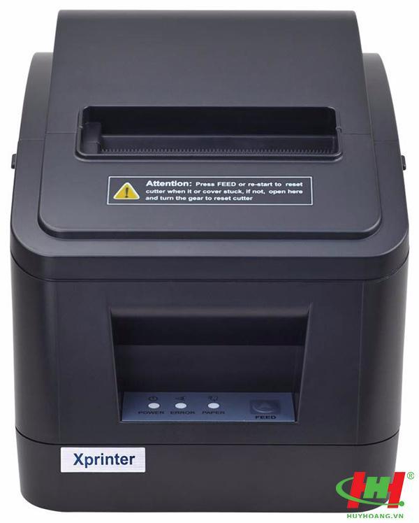 Máy in hóa đơn,  in bill Xprinter XP-V320N (USB + LAN,  in nhiệt 80mm)