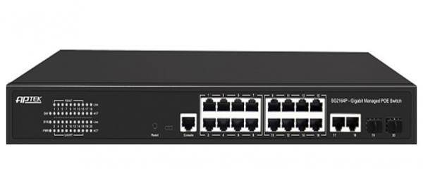 Switch 16 Port PoE APTEK SG2164P - Switch 16 Port PoE L2 Managed Gigabit Switch