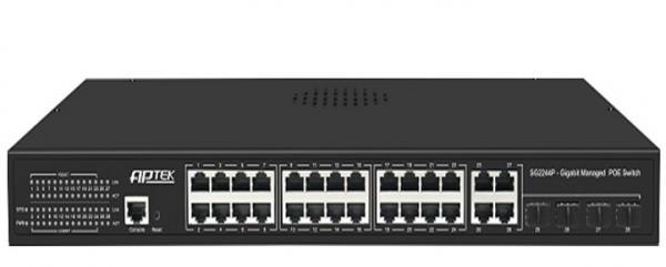 Switch 24 Port PoE APTEK SG2244P - Switch 24 Port PoE L2 Managed Gigabit Switch