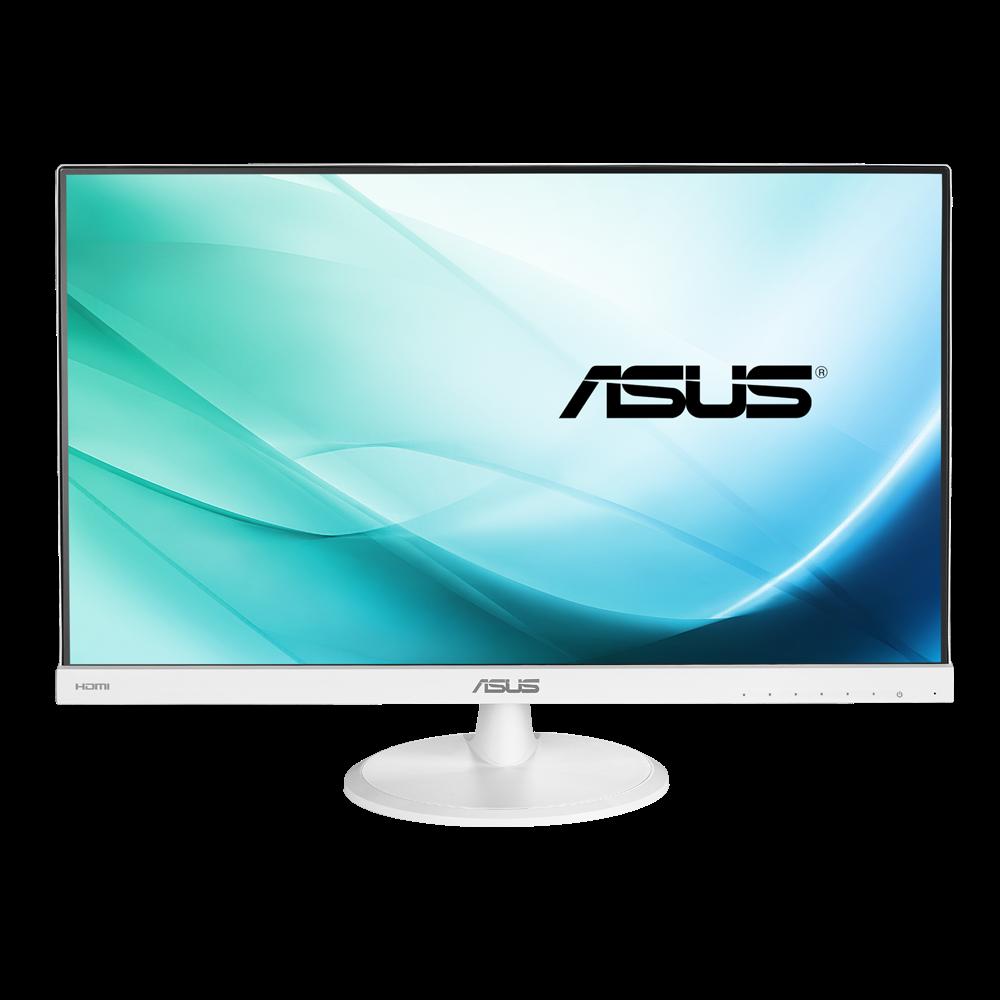 Màn hình vi tính LCD ASUS VC239H-W – 23inch FHD 1920x1080,  IPS,  VGA,  DVI,  HDMI,  Màu Trắng (Cáp Vga, DVI,  Audio),  LOA,  03Y Onsite