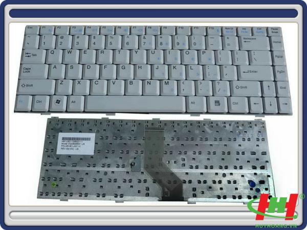 Bàn phím laptop NEC Versa E6300 E6500 bạc