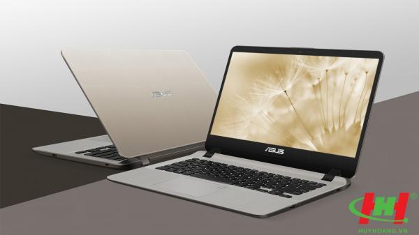 "Máy tính xách tay ASUS X407UA-BV488T I3-7020U | 4GB | SSD 16GB Optane + 1TB | Win10 | FingerPrint | Gold | 14.0""HD"