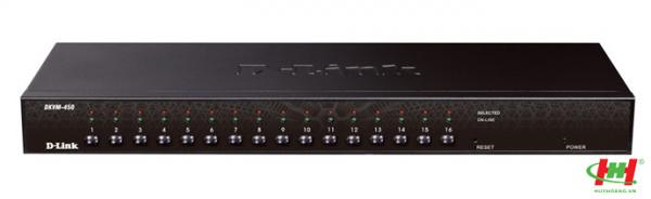 KVM Switch D-Link KVM-450 (16-Port PS/ 2,  USB Combo)