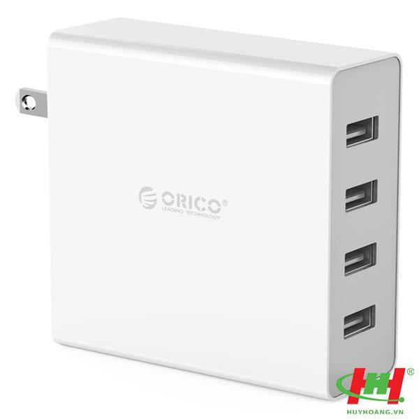 Sạc điện thoại USB 4 cổng 2.4A ORICO DCW-4U