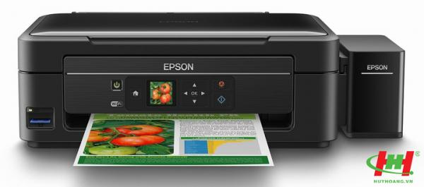 Máy in liên tục Epson L455 (In, Scan, Copy, Wifi, In trực tiếp từ thẻ nhớ)