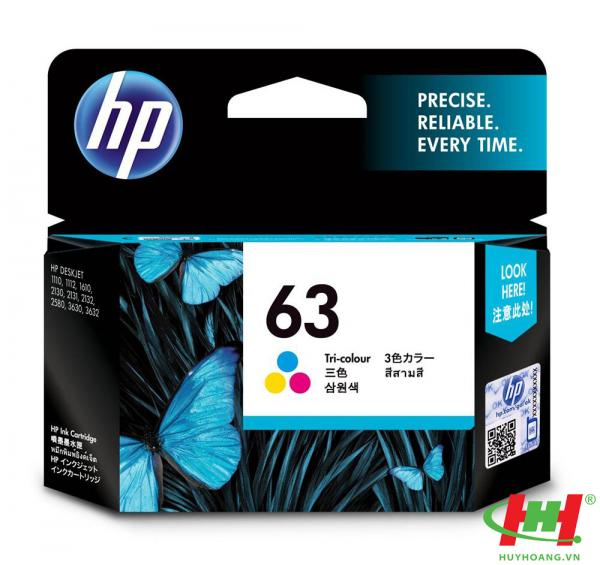 Mực in phun HP F6U61AA (HP 63) color